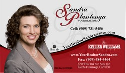 Sandra business card sample by South Side Sign